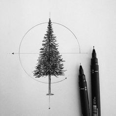 <geometric pine tree> #art #minimalistic #pinetree #tattoodesign #tattoo #illustration #geometric                                                                                                                                                                                 More