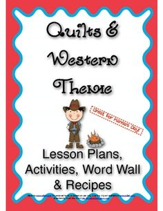 This is a one week preschool theme. The whole week focuses on Quilts and Western (Great for Kansas Day). This includes the lesson plans, sheets that describe the activities, handwriting practice (D'Nealian and Block), word wall cards, a guided reading book, and more
