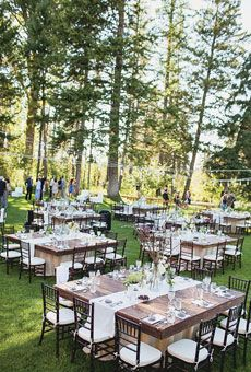 A rustic and ever-so-romantic wedding, set amongst the redwood trees.