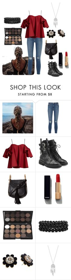 """Send my Love"" by melissa-h-14 ❤ liked on Polyvore featuring Frame Denim, Anna October, Giuseppe Zanotti, Chloé, Chanel, Bling Jewelry, Kate Spade and Lucky Brand"