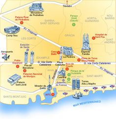 Barcelona | Mapa De Barcelona
