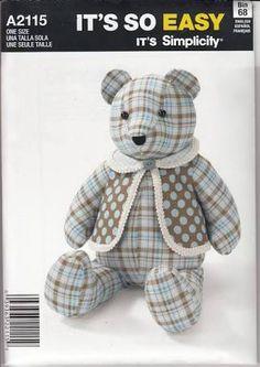 Resultado de imagem para teddy bear patterns to sew