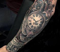 Risultati immagini per clock tattoo