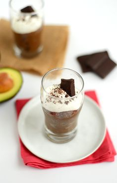 Paleo Salted Dark Chocolate Mousse  #FitFoodieFinds