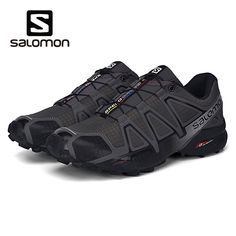online store 07f35 56189 Salomon Shoes Men Speed Cross 4 CS Cross-country Running Shoes Male  Sneakers Athletic Shoes Black White Grey Sport Shoes 36-46