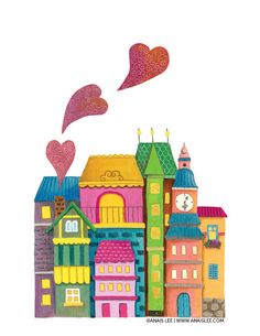 Sweet Home Art Print by twinklearts on Etsy, $20.00
