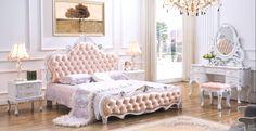 Rococo Bed Kopen : Luxe gold diamond getuft lederen slapen bed hedendaagse franse