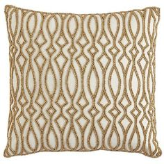 Go for a little glamour—or a lot—with our Beaded Tile Pillow. Covered in tiny, metallic, sewn beads on a cotton cover, this is a one-of-a-kind creation from our Pier 1 designers.