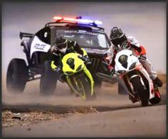 Motorcycle v. Car Drift Battle 3