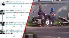 Viral di Twitter - Foto Ustaz Bantu Motor Biarawati yang Mogok, Di-retweet Lebih Dari 1000 Kali!