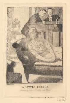 A Little Cheque (The Small Plate) Artist: Walter Richard Sickert (British, Munich 1860–1942 Bathampton, Somerset) Date: 1915 Medium: Etching and engraving; second state Dimensions: plate: 5 15/16 x 3 15/16 in. (15.1 x 10 cm) sheet: 8 11/16 x 6 1/8 in. (22.1 x 15.5 cm)