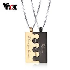 """Lock"" Couple Pendant Necklace"