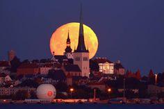 Moon over Tallinn