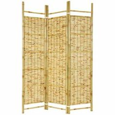 privacy dressing screens | Burnt Bamboo Shoji Screen