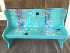 Painted church bench 2