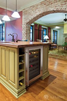 """With a 31 bottle capacity, an 18"""" Wine Captain® Model by U-Line is perfect for any space. The U-Select® Control makes sure the wine is always at perfect cellar-like temps."""