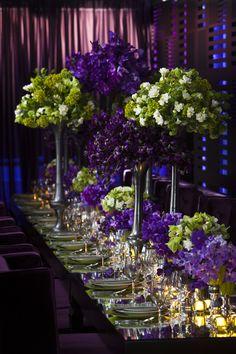 Grace Ormonde Wedding Style | Purple & Green | Opulent King's Table | Morgan Events