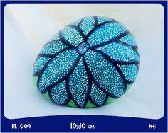 Piedra Pintadas - Tema Flores Pebble Painting, Dot Painting, Pebble Art, Stone Painting, Zen Rock, Rock Art, Painted Trees, Painted Pebbles, Sticks And Stones