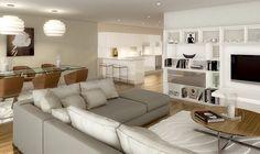 Redrow Kingston Riverside, Apartments And Penthouses. CGI Show Interiors