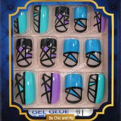 Kiss Goldfinger Glue-on Fashion Nail 24 Nails Kit for sale online Nail Art Designs Videos, Nail Designs, Kiss Glue On Nails, Quick Dip, Impress Nails, Powder Nails, Fabulous Nails, Gel Polish, Tutorials