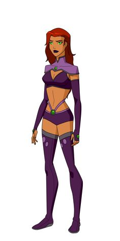 Drawing Dc Comics Starfire Outlaws/Titans Design by on DeviantArt - Starfire And Raven, Teen Titans Starfire, Nightwing And Starfire, Young Justice Starfire, Dc Comics Characters, Dc Comics Art, Comics Girls, Superhero Images, Sexy Cartoons