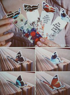 Butterfly bookmarks.