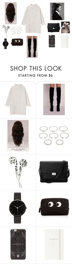 """Unbenannt #49"" by f-eis ❤ liked on Polyvore featuring Monki, WigYouUp, Forever 21, Aspinal of London, I Love Ugly, Anya Hindmarch, DANNIJO and Kate Spade"