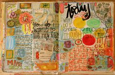 journal pages by pam garrison, via Flickr