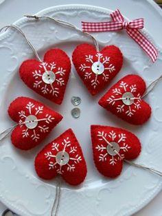 X mas hearts