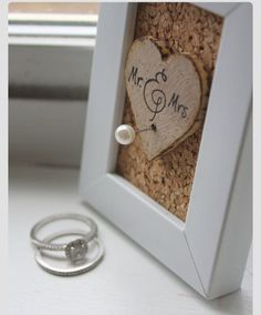 DIY ring holder, love the frame and concept by itself maybe not as a ring holder