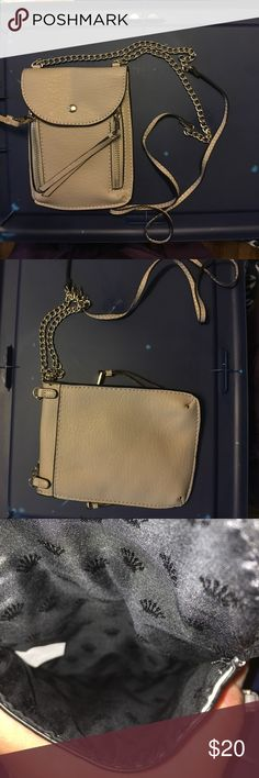 Juicy Couture Small Crossbody Small grey crossbody by juicy couture. I removed the tags but never actually got to use it. Too small for me by but may be perfect for someone else. Juicy Couture Bags Crossbody Bags