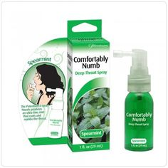 "Spray analgésico garganta profunda Sexo Oral ""Confortably Numb Deep throat""  http://www.lachupeta.com/index.php?route=product/product_id=256"