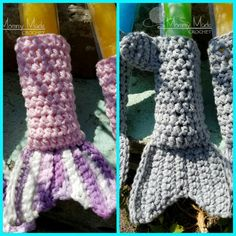 CROCHET PATTERN* Shark/Mermaid Tail Ice Pop Cozies by MommyMadeCrochet77 on Etsy