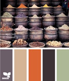 Fall color palette. Would be great for a wedding, an outfit, room colors, etc.