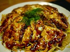 Micchan is Hiroshima's most famous okonomiyaki chain that originally started selling the signature dish in 1950 at this location near Japanese Dishes, Japanese Food, Japanese Recipes, Hiroshima Okonomiyaki, Sushi, Food N, Vegan Vegetarian, Vegan Recipes, Spaghetti