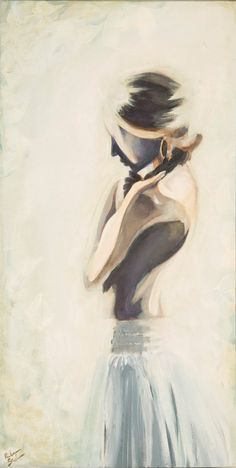 Watercolor figure Painting Female Pretty shadow black and white archival art print art gift romantic wall art decor soft poster