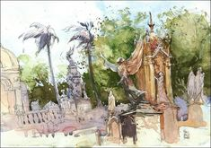 Capture the energy and excitement of travel in spontaneous sketches. Learn fast, fun and flexible techniques for sketching on location in mixed media.