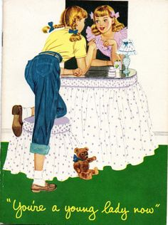 """""""You're a young lady now"""" ~ Vintage card"""