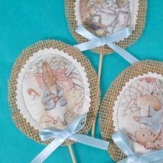 Shabby Chic Peter Rabbit cupcake toppers topper by Hartranftdesign Peter Rabbit Birthday, Peter Rabbit Party, 1st Birthday Parties, 4th Birthday, Cupcake Toppers, Shabby Chic, Easter Hunt, Baby Christening, Holly Hobbie