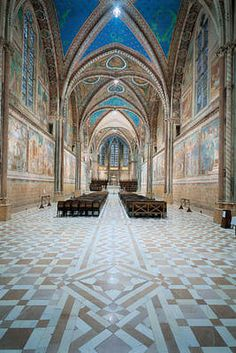 Quick guide to Saint Francis Basilica in #Assisi, #Umbria: Upper Church of Saint Francis Basilica.