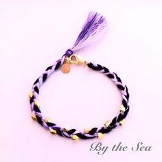 purple mix color  bread bracelet by BytheSeajewel on Etsy, ¥1500