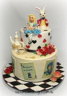 Vintage Alice in Wonderland Cake