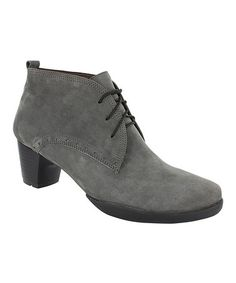 Look what I found on #zulily! Pombai Gray Fermata Suede Bootie by Wolky, $70 !!  #zulilyfinds