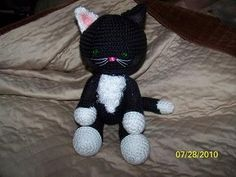 Cute Floppy crochet kitty Cat Any color you want
