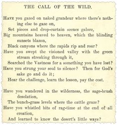 The Call of the Wild, page 1, Robert W. Service