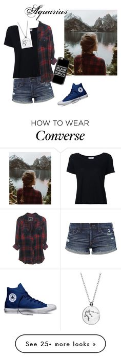 """Essence of an Aquarius"" by awesomeness13j on Polyvore featuring Frame, Urban Renewal, Chupi, Abercrombie & Fitch, Casetify and Converse"