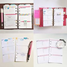 Minimal planner design - handmade top tabs with washi tape
