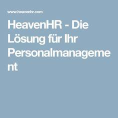 HeavenHR - Die Lösung für Ihr Personalmanagement