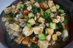 Steamed Tofu with Mushroom Sauce - Healthy Vegan Dinner