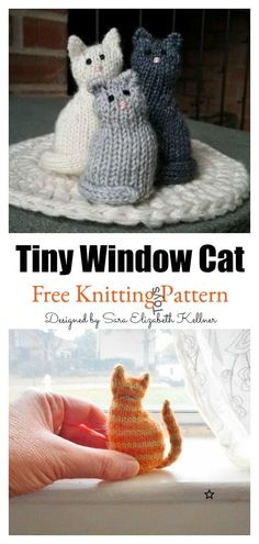 Tiny Window Cat Free Knitting Pattern Startknittingfreepattern Amigurumipattern Catpattern - tiny window cat free strickmuster startknittingfreepattern amigurumipattern catpattern - minuscule fenêtre chat modèle de tricot gratuit commencer à Easy Knitting Projects, Knitting For Beginners, Crochet Projects, Knitting Ideas, Sewing Projects, Beginning Knitting Projects, Diy Crafts Knitting, Knitting Tutorials, Craft Projects